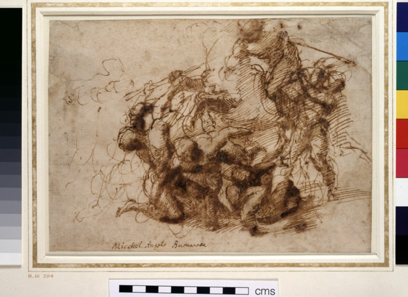 A Battle Scene (study for the Battle of Cascina)