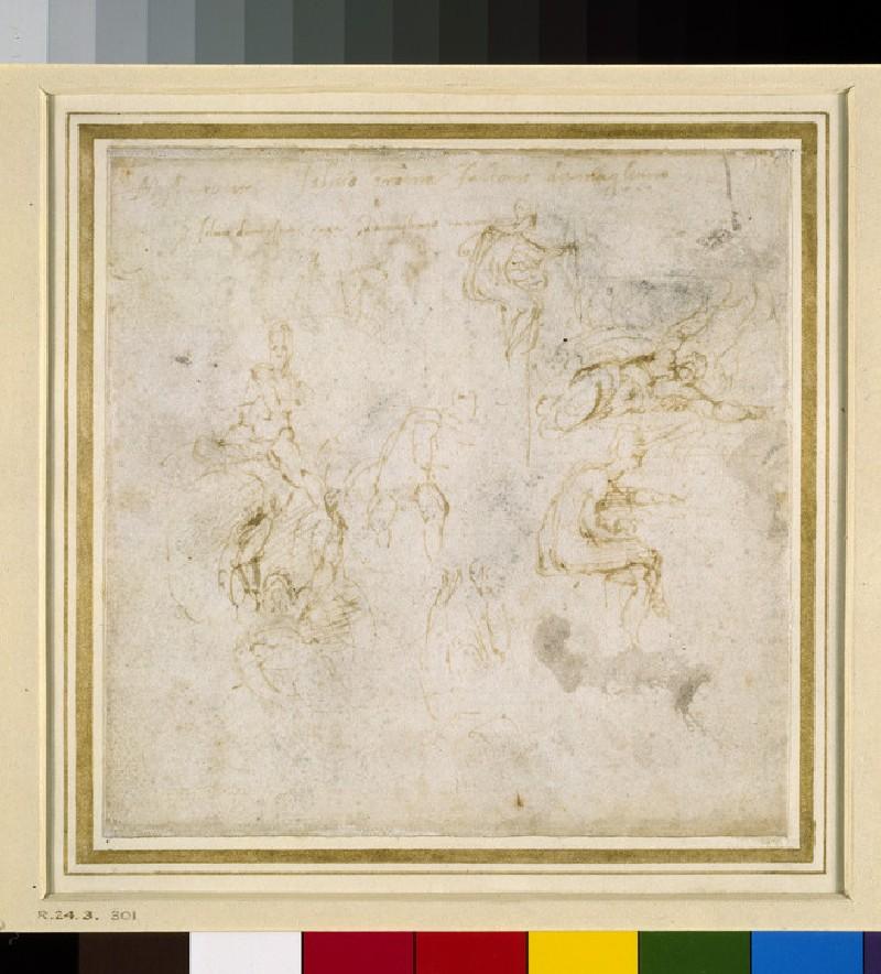 Recto: Eight Figure Studies Verso: Figure Study