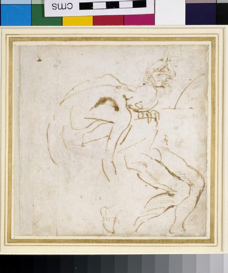 Recto: Two partial Figure Studies<br />Verso: Four Figure Studies