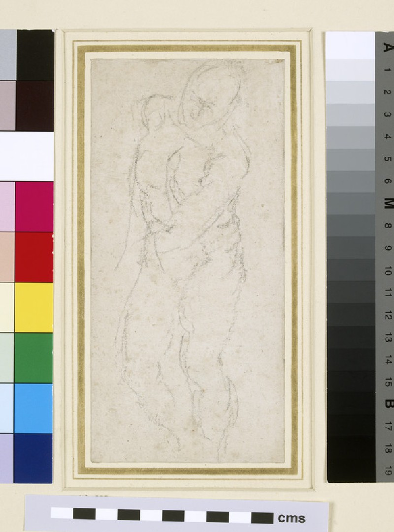 Sketch of a male Nude advancing