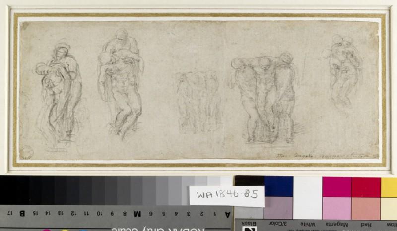 Studies for a Pietà and an Entombment
