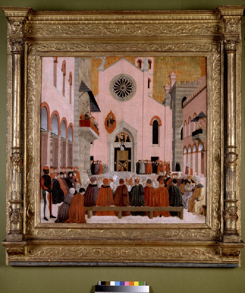 St Vincent Ferrer preaching before a Pope (WA1850.18)