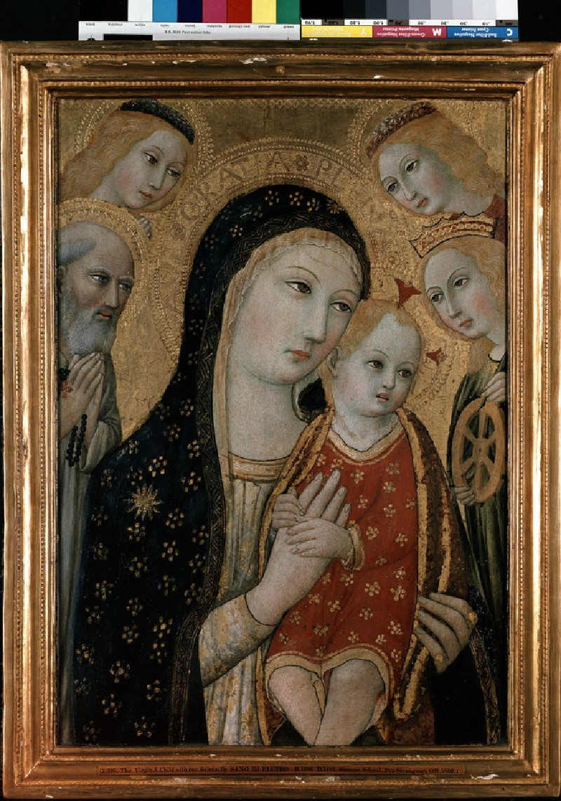 The Virgin and Child with St Jerome, St Catherine of Alexandria and two Angels (WA1850.22)