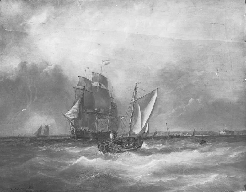Sea-piece: off Calshot Castle (WA1850.41)