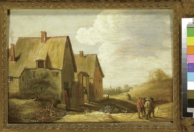 Landscape with a Farmhouse and Figures (WA1851.17)