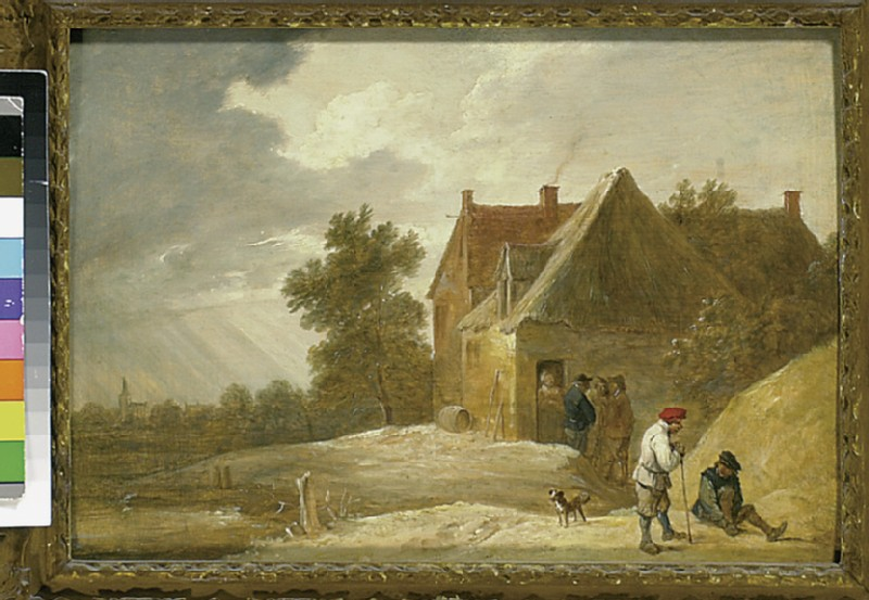 Landscape with a Farmhouse and Figures on the Bank of a River (WA1851.18)