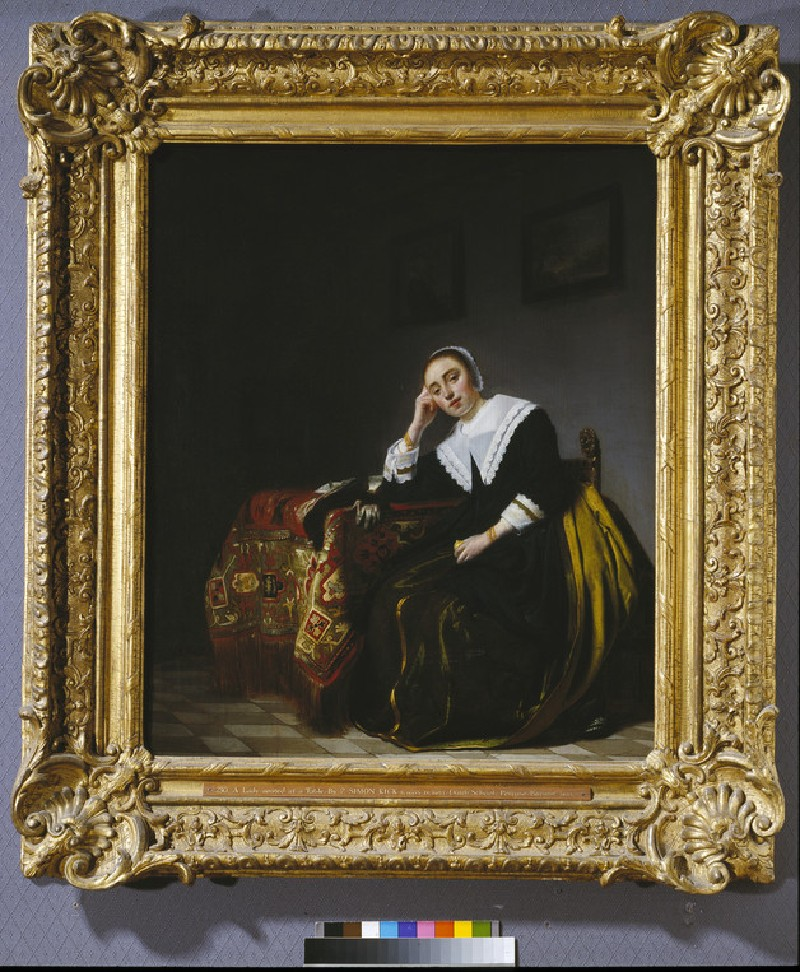 A Woman seated beside a Table (WA1851.21)