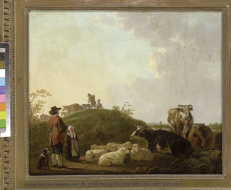 Landscape with Figures, Cattle and Sheep (WA1851.23)