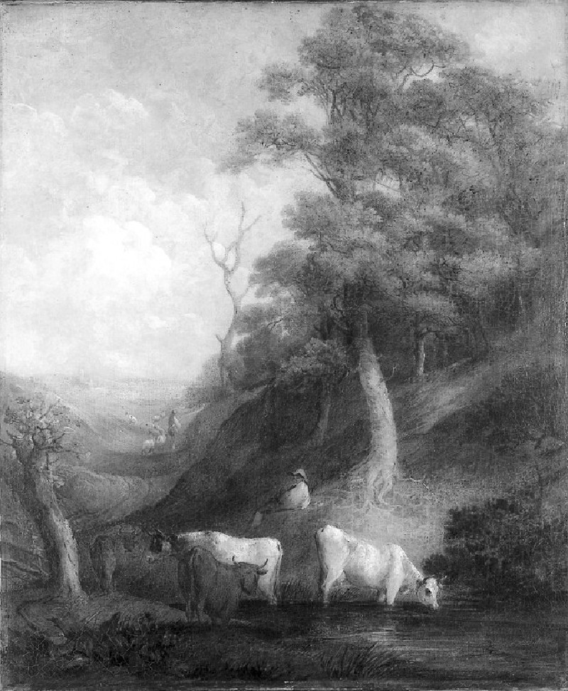 Landscape with Cattle and a Pond (WA1851.3)
