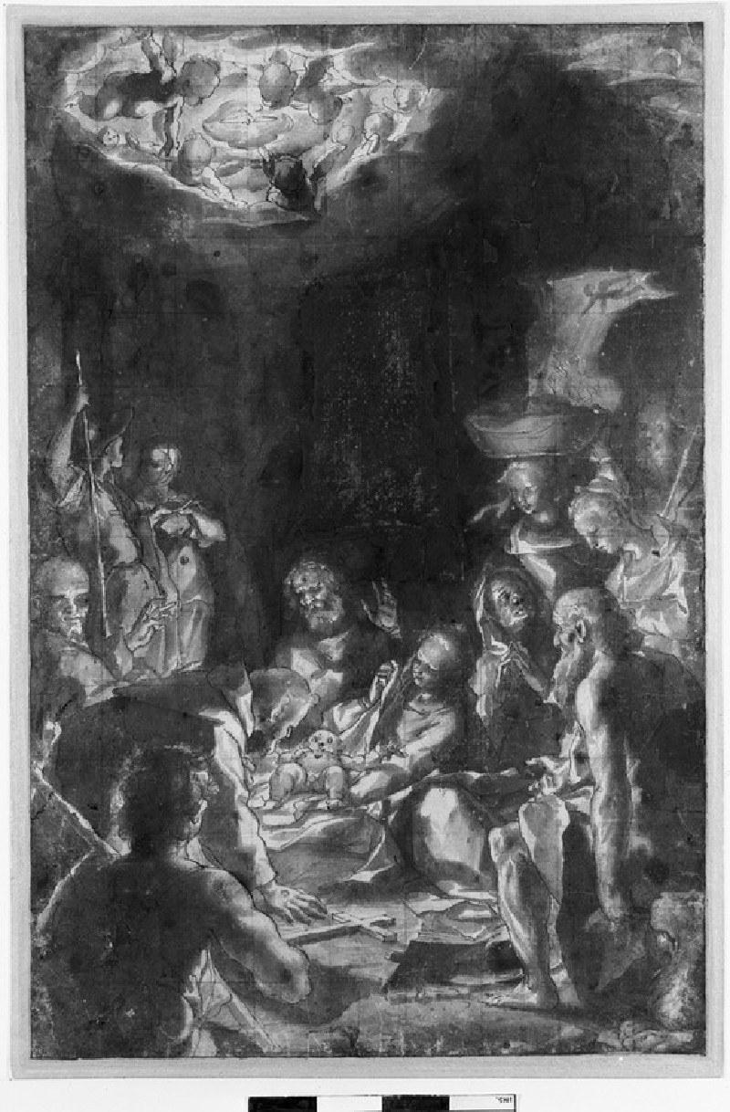 The Nativity with attendant Saints