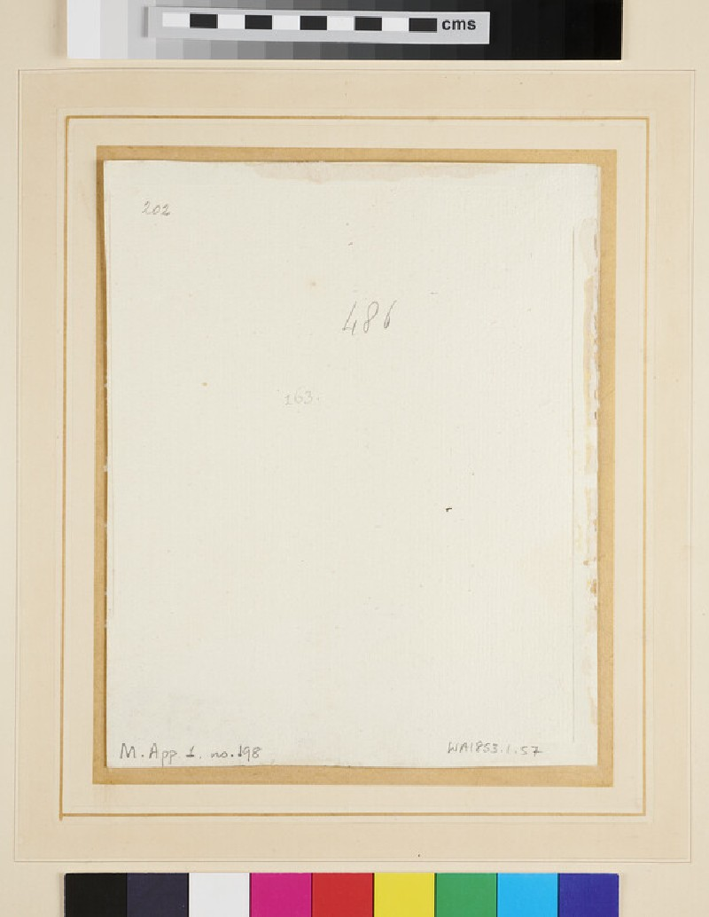 Studies of a Youth (WA1853.1.57, verso)