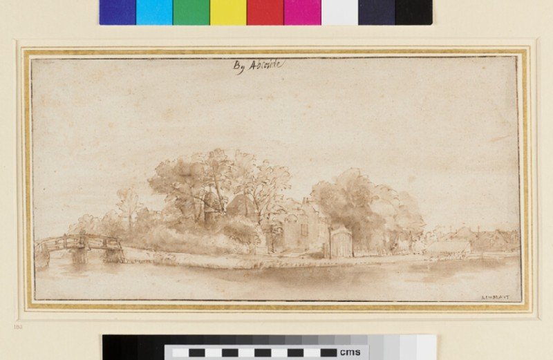 View near Abcoude (WA1855.12, recto)