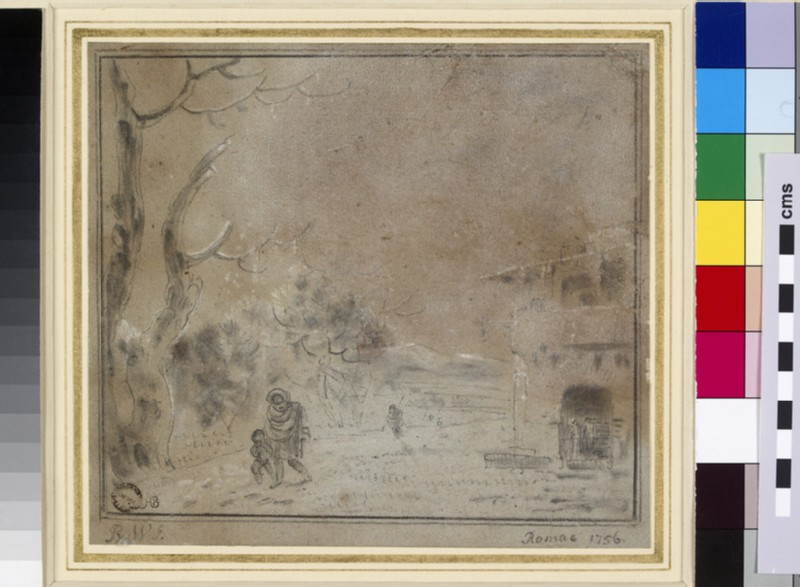 The Outskirts of Rome under Snow (WA1855.146)