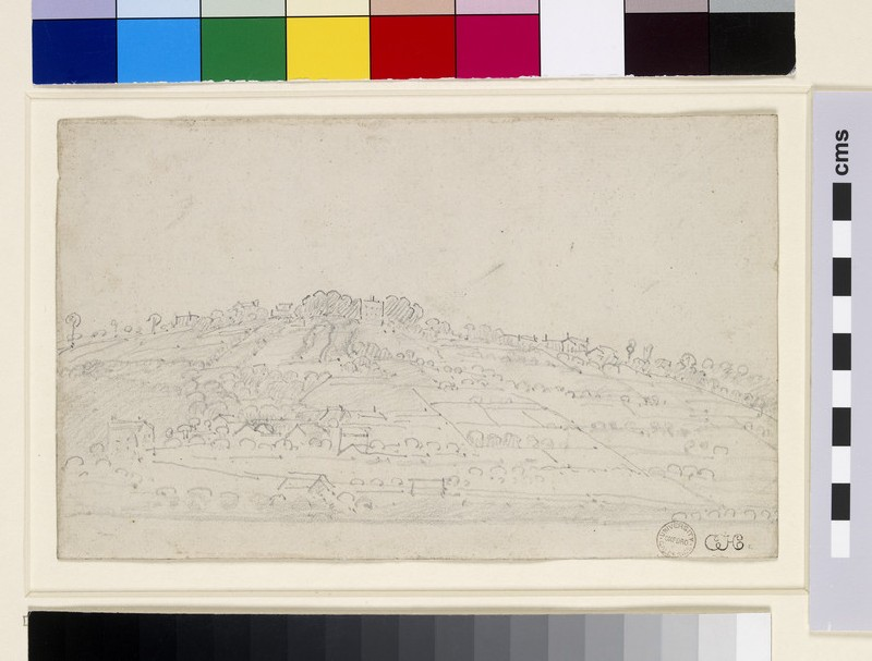 English Hillside with Fields and Buildings (WA1855.149)