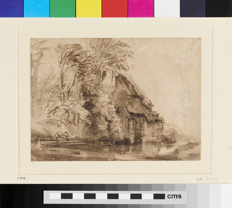 Farm Buildings near Water (WA1855.15, recto)