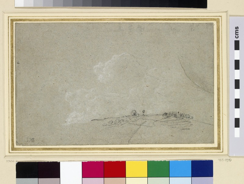 Study of a Hill Crest and Clouds (WA1855.150)