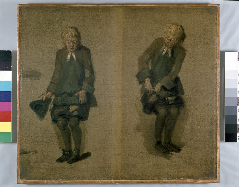 Two Sketches of David Garrick as Abel Drugger in 'The Alchymist'