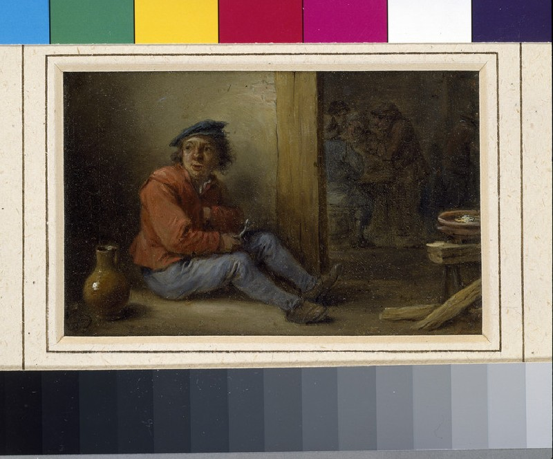 A young Peasant seated in an Interior (WA1855.212)