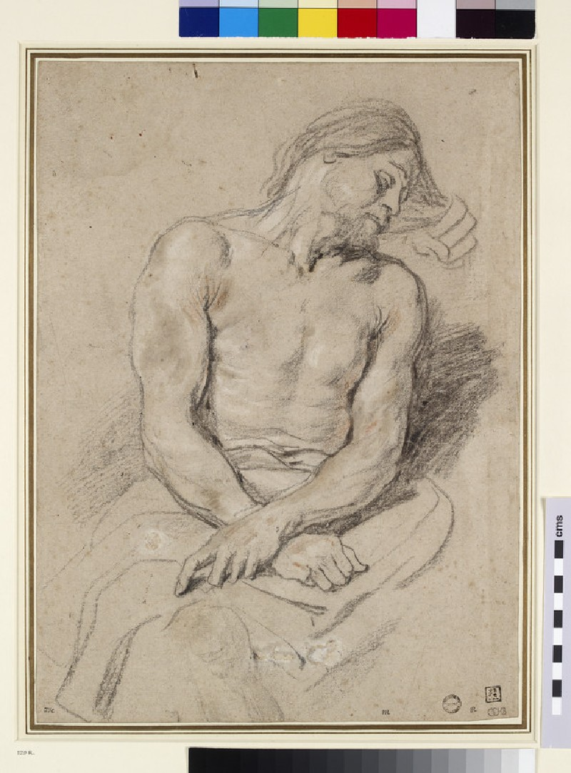 Recto: Christ mocked