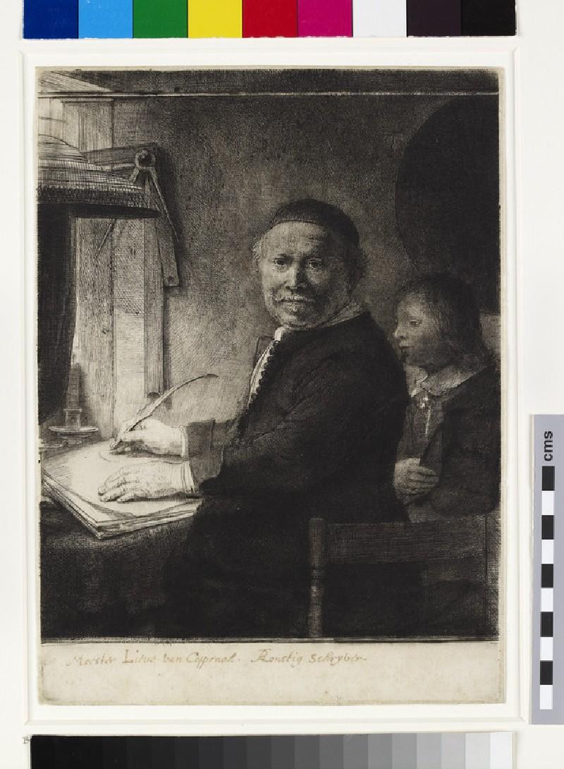Lieven Willemsz. van Coppenol, Writing-Master: the smaller plate (WA1855.289, Lieven Willemsz. Van Coppenol, Writing-master: The smaller plate)