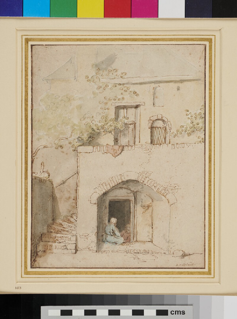 Study of the Front of a House