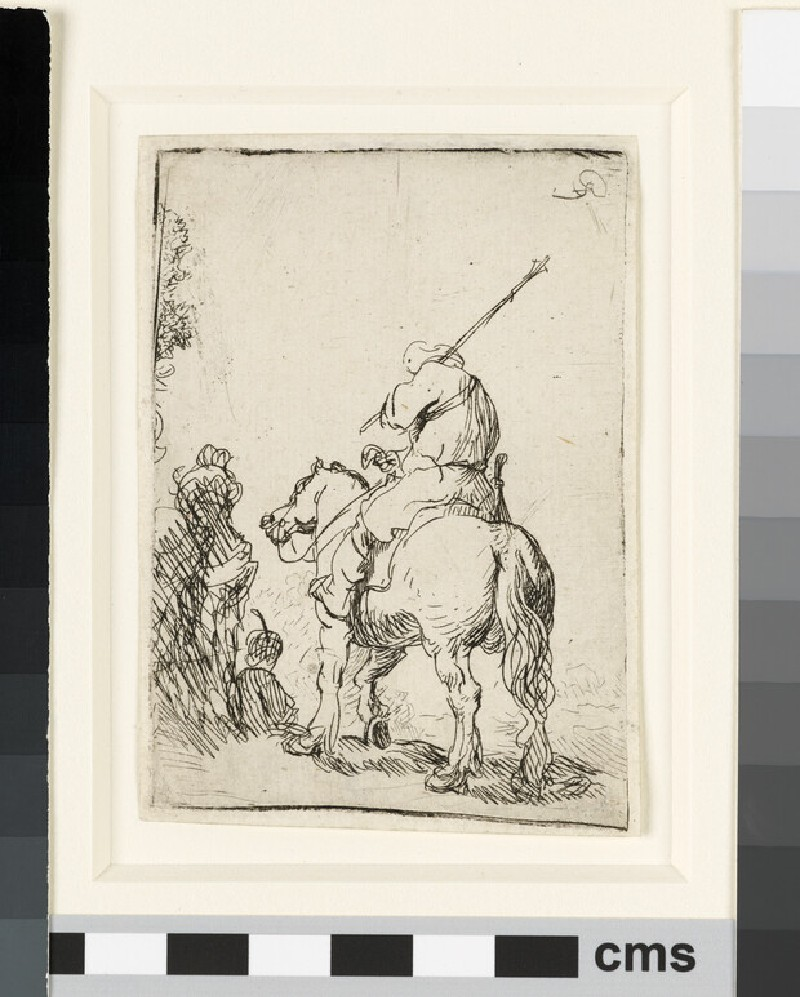 Turbaned soldier on horseback (WA1855.301)