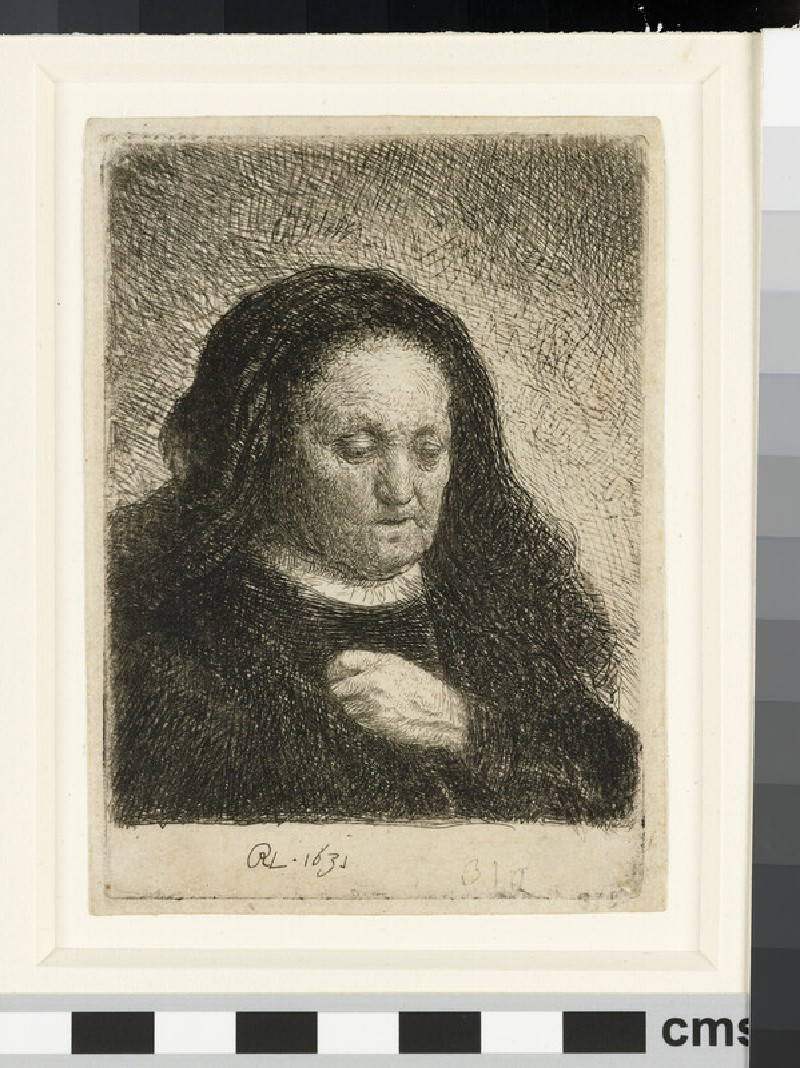 The Artist's Mother with her Hand on her Chest: small Bust (WA1855.310)