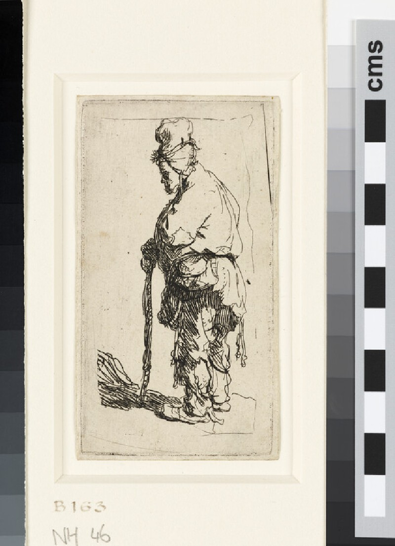 Beggar leaning on a Stick, facing left (WA1855.314)
