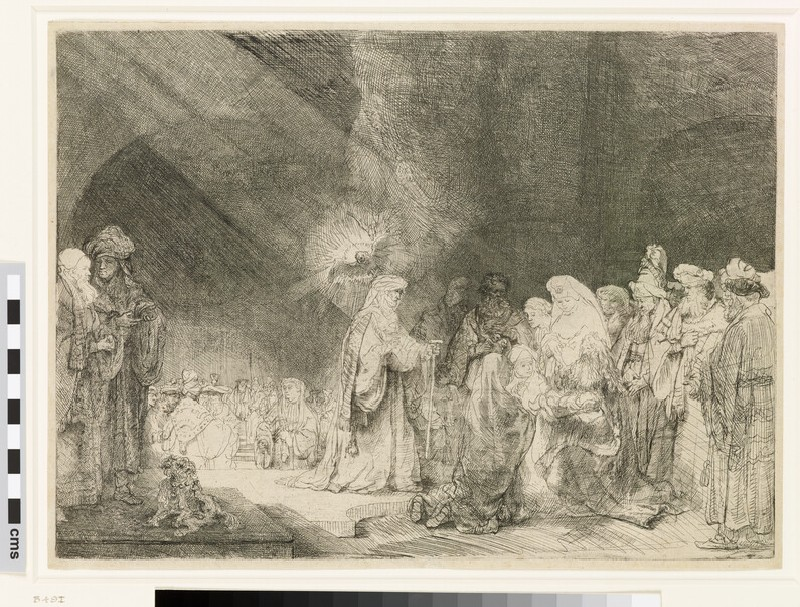 The Presentation in the Temple: oblong print (Luke 2: 22-40)