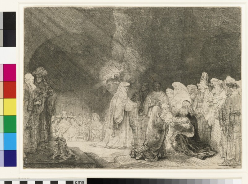 The Presentation in the Temple: oblong print (WA1855.318)