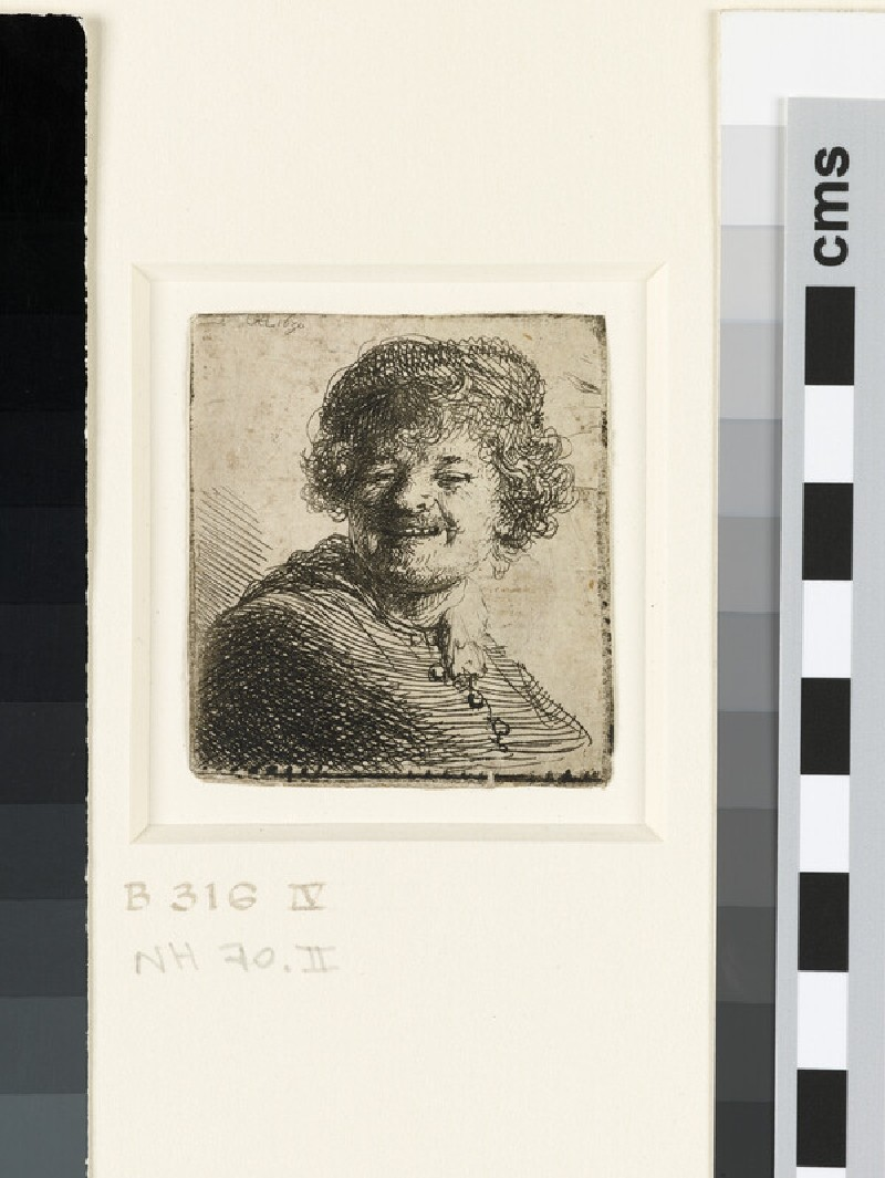 Self-portrait in a Cap: laughing (WA1855.327)