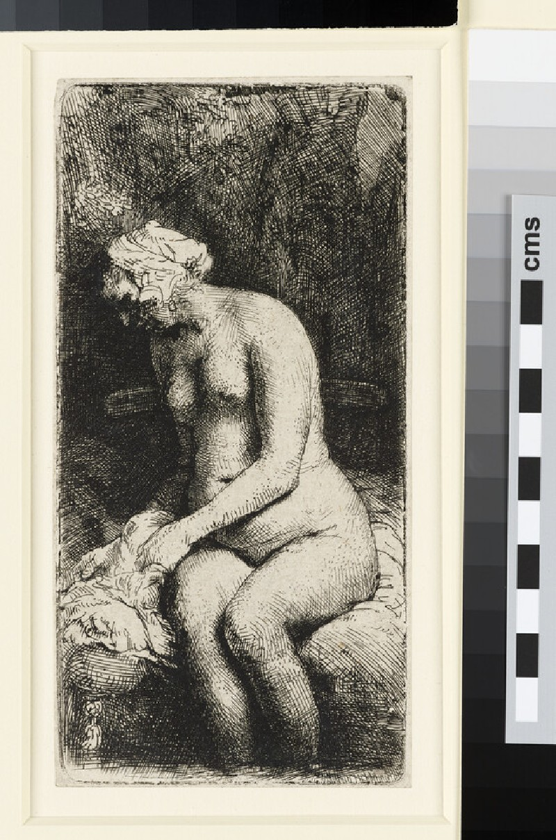Woman bathing her Feet at a Brook