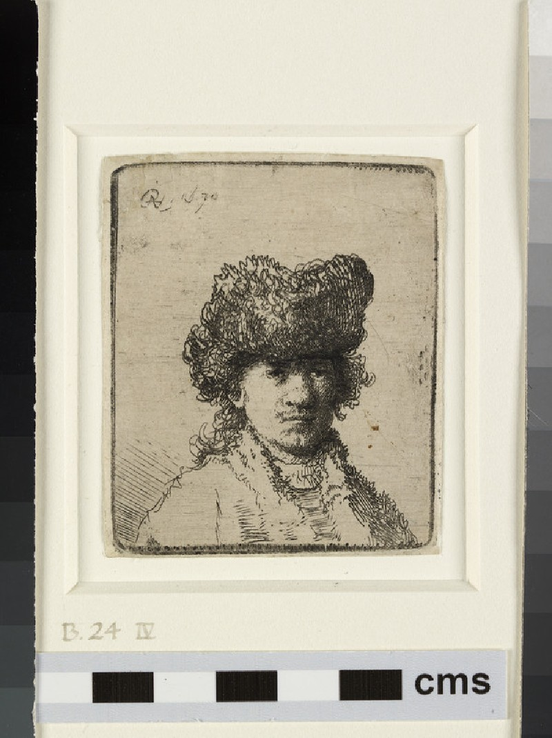 Self-portrait in a fur Cap: bust (WA1855.402, Self-portrait in a fur cap: bust)