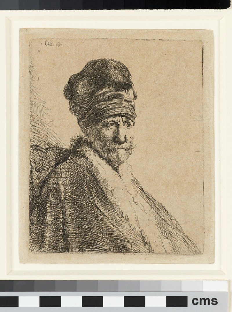 Bust of a Man wearing a high Cap, three-quarters right: The Artist's Father (possibly) (WA1855.404)