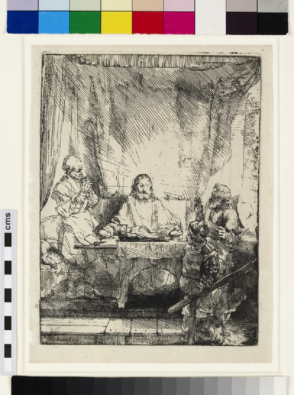 Christ at Emmaus: the larger plate (Luke 24:13-31)