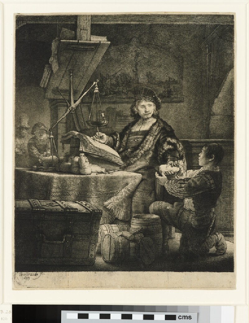 Portrait of Jan Uytenbogaert, 'The Goldweigher'