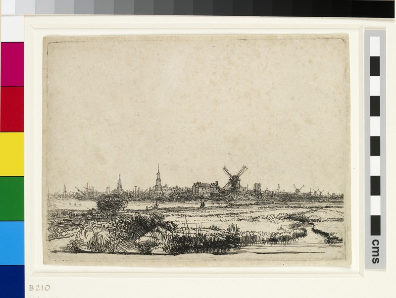 View of Amsterdam from the Kadijk