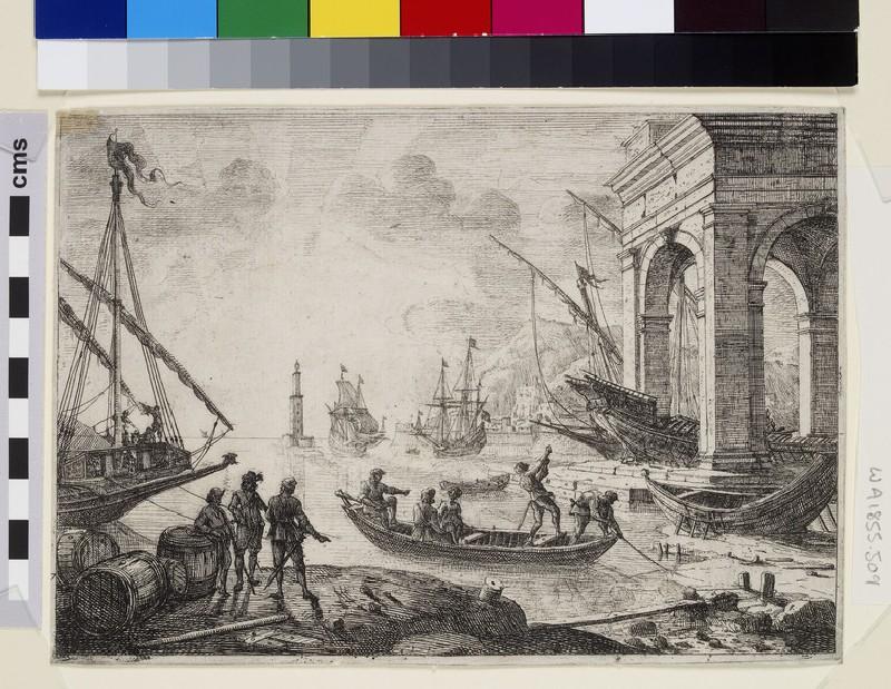 Le port de mer au fanal (Harbour scene with a lighthouse)