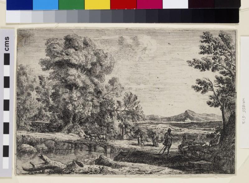 Le pont de bois (Rebecca and Eliezer) (WA1855.512)