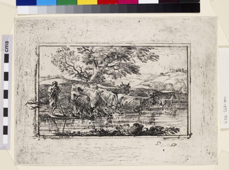 Le troupeau à l'abreuvoir (The herd at the watering-place) (WA1855.529)