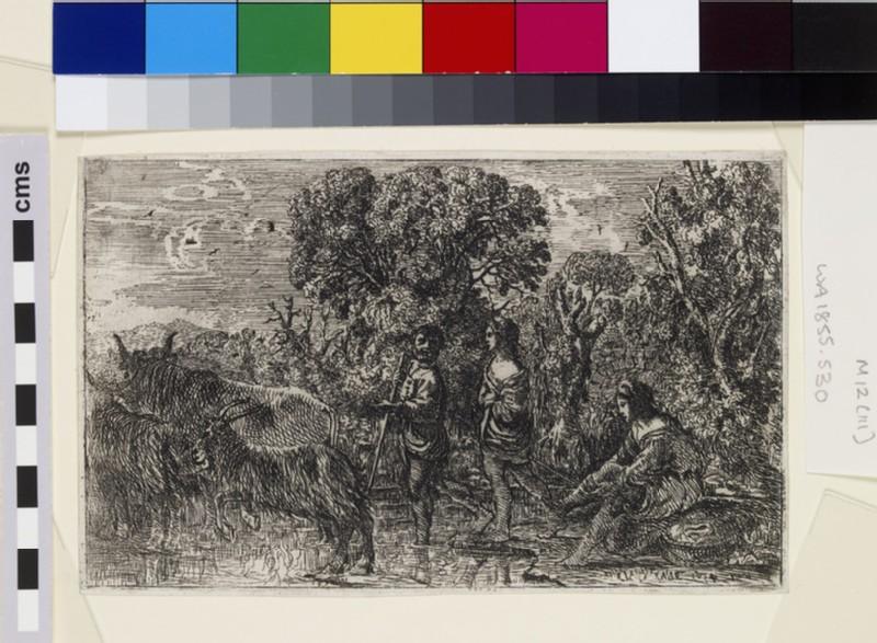 Le passage du gué (The ford) (WA1855.530)