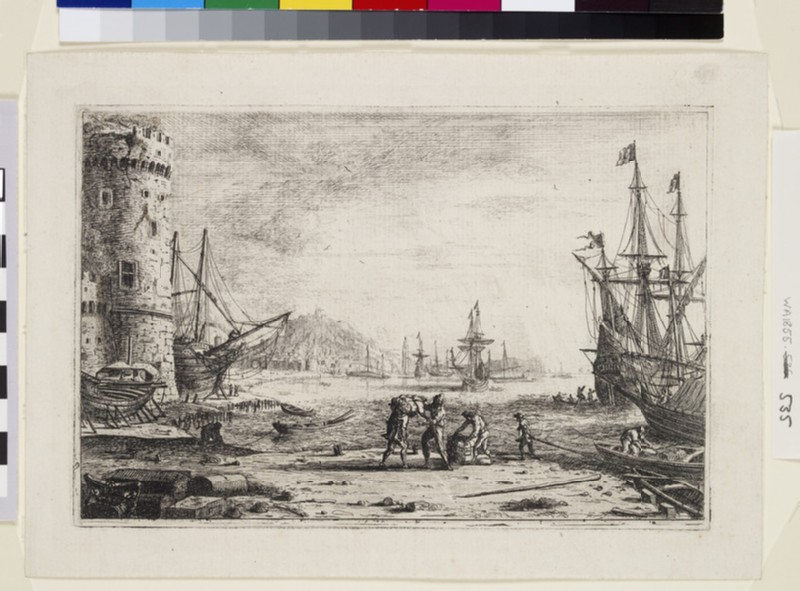 Le Port de mer à la grosse tour (Harbour with a large tower) (WA1855.535)