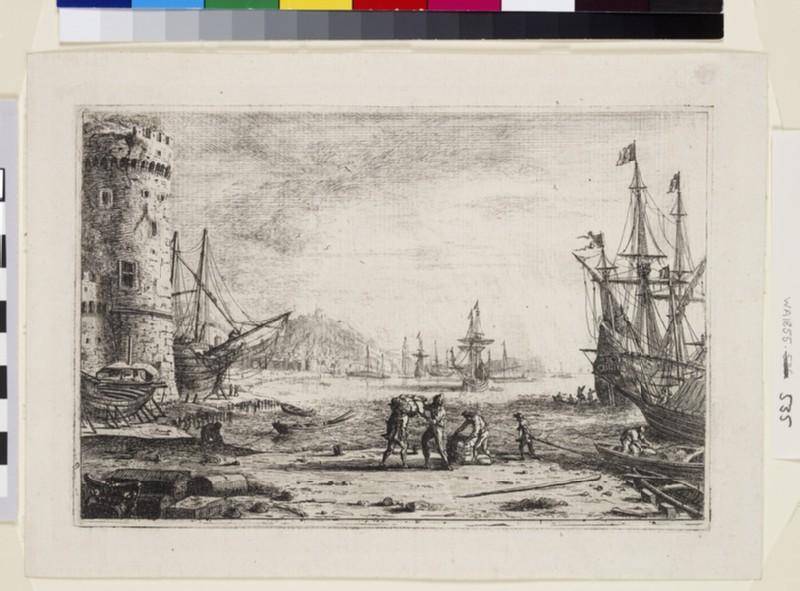 Le Port de mer à la grosse tour (Harbour with a large tower) (WA1855.535)