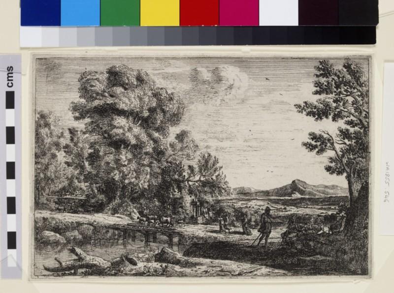 Le pont de bois (Rebecca and Eliezer) (WA1855.546)