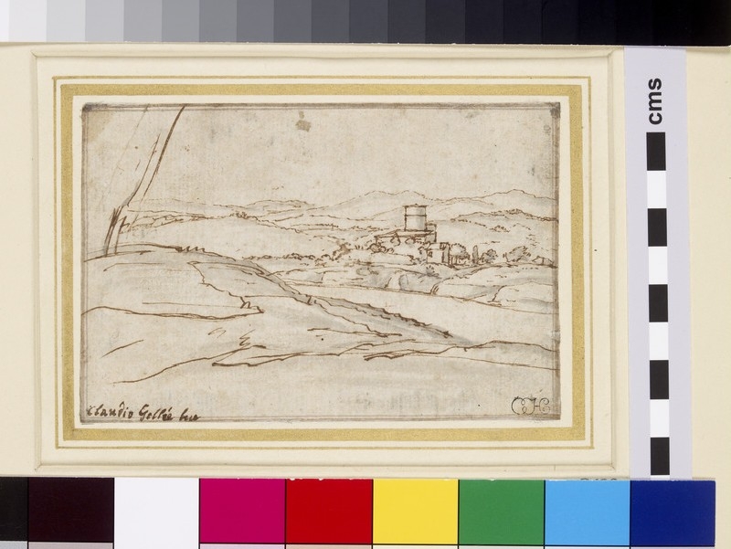 Extensive landscape with a farm by a river (WA1855.58)