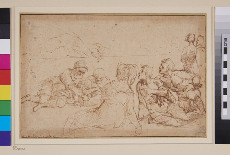 Group of Figures seated on the Ground