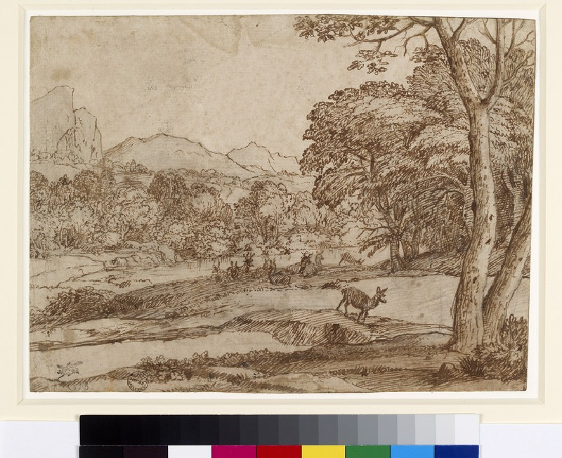 Landscape with a herd of deer (WA1855.77)