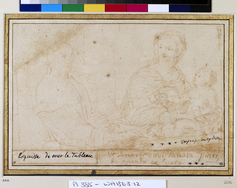 Claudine Bouzonnet Stella painting a Composition of the Virgin and Child (WA1863.12)
