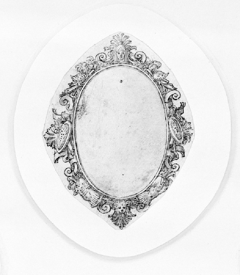 Design for a badge or dress ornament: A design for an oval jewel (WA1863.133.332)