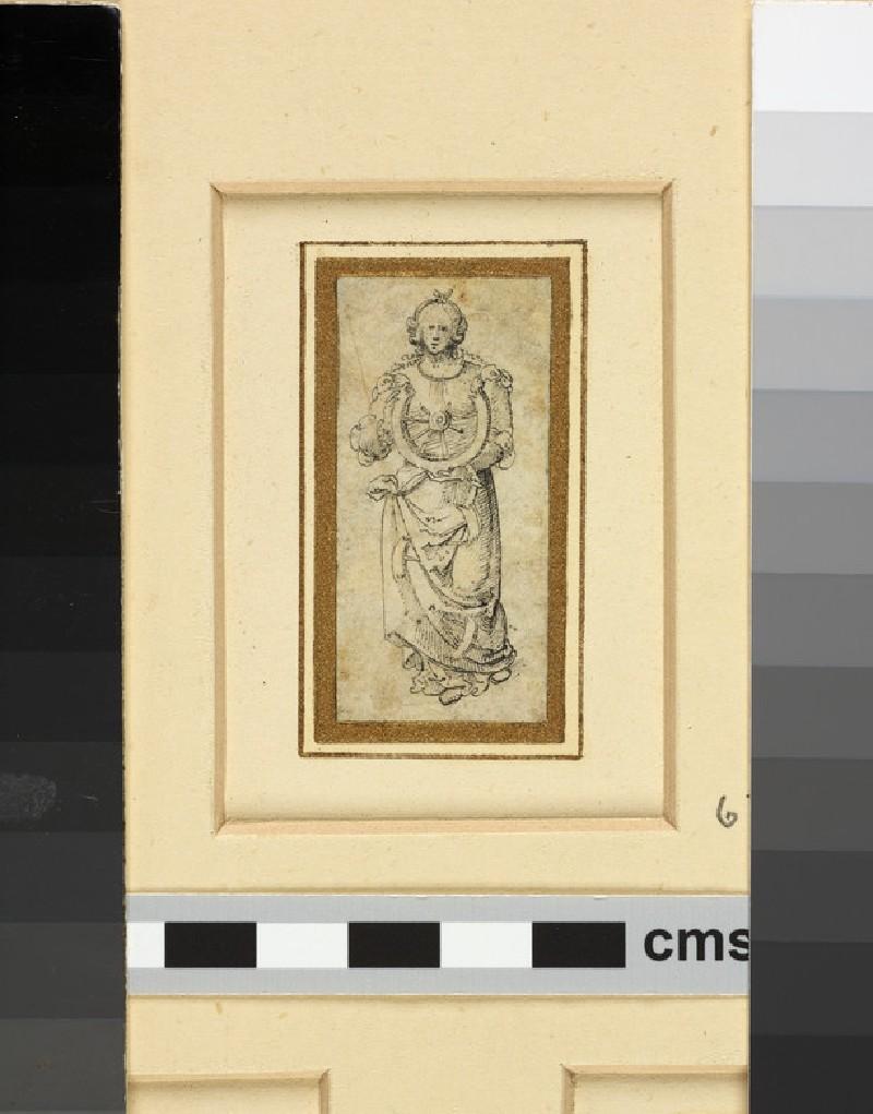 St Catherine holding the broken wheel (WA1863.133.632)